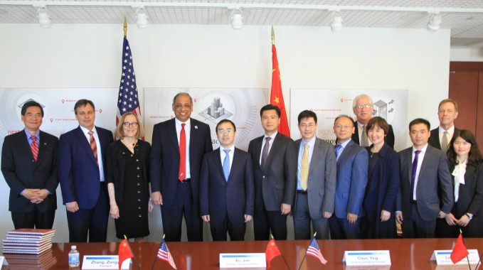 Delegation led by Zhang Zongyi visits UC and attends 1st graduation ceremony of the Joint Co-op Institute