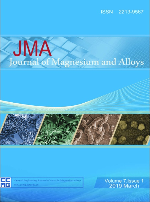CQU-run Journal of Magnesium and Alloys ranks 5th in terms of impact factor